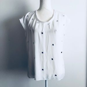 Express mirrored white top